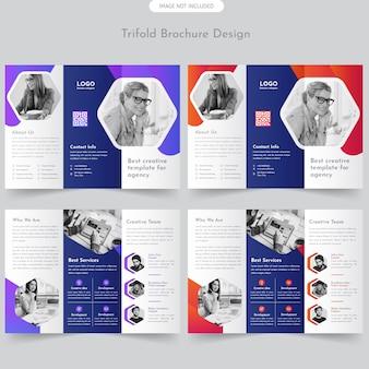 Brochure trifold di affari