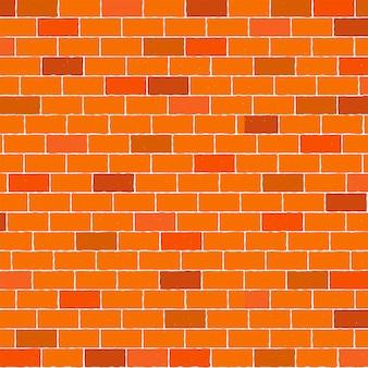 Brown e fondo arancio del muro di mattoni