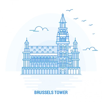 Bruxelles tower blue landmark