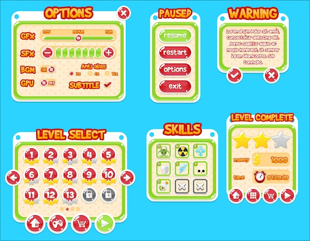 Bubble game gui