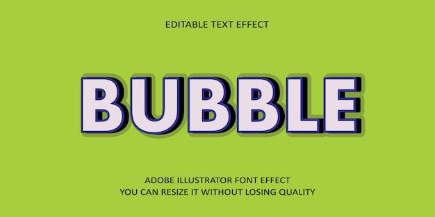 Bubble testo modificabile effetto carattere