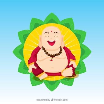 Budha colorato con design piatto