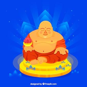 Budha tradizionale con design piatto