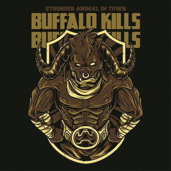 Buffalo uccide illustrazione