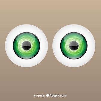 Bulbo oculare grafica vettoriale