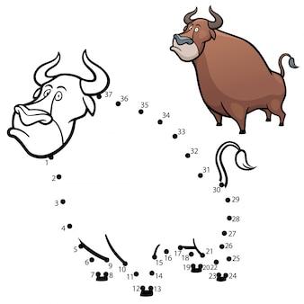 Bull gioco punto per punto per bambini