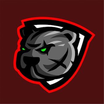 Bulldog con scudo logo e-sport
