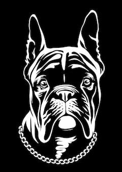 Bulldog francese nero bello. questa è la serie frenchie in stile bianco nero.