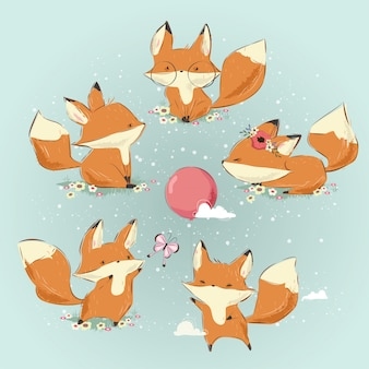 Bundle di Cute Drawing Fox