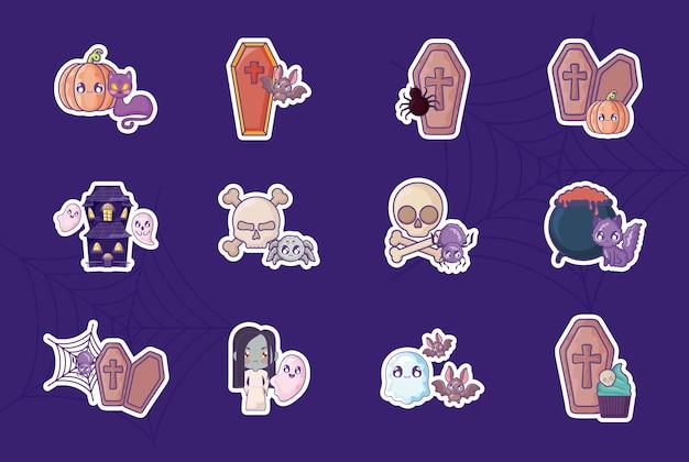 Bundle halloween con set di icone