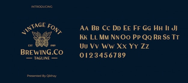 Bunga vintage font