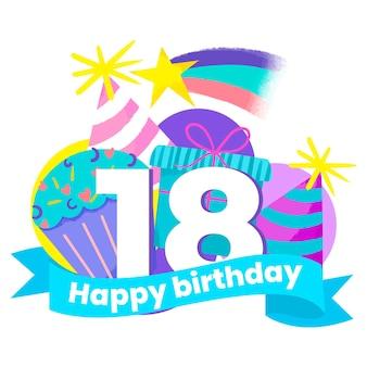 Buon 18 ° compleanno in stile carta da parati