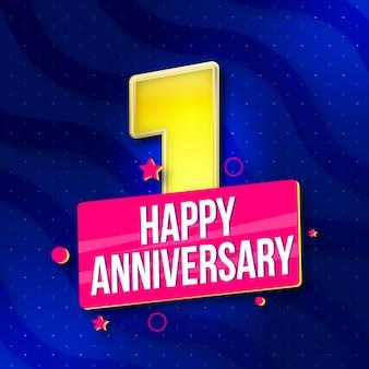 Buon anniversario 1 ° anniversario