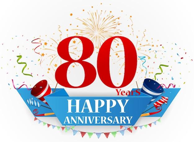 Buon anniversario celebrazione design