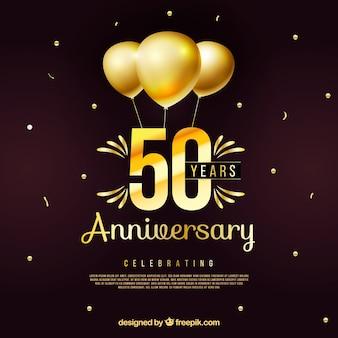Buon anniversario con numeri in stile dorato
