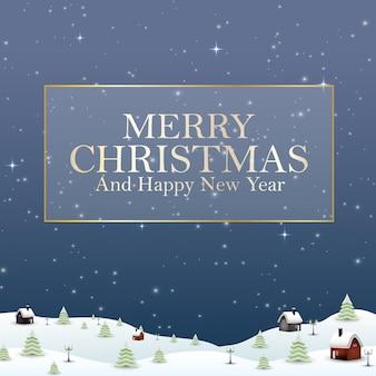 Buon anno nuovo merry christmas 2019 e neve