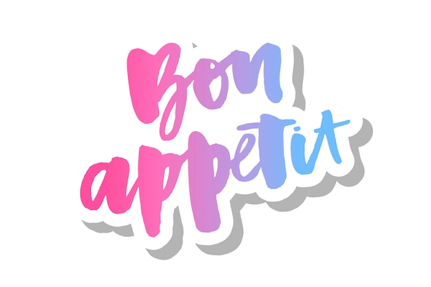 Buon appetito lettering calligrafia