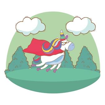 Buon compleanno cartoni animati di unicorno