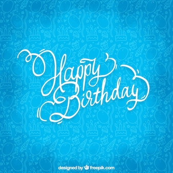 Buon compleanno sfondo blu