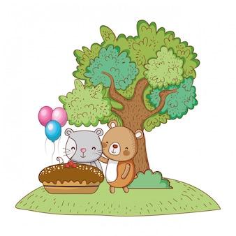 Buon compleanno simpatico animale
