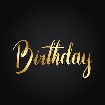 Buon compleanno stile tipografia vettoriale