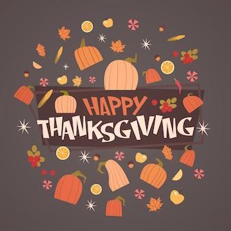 Buon giorno del ringraziamento autumn traditional harvest greeting card