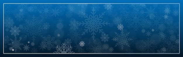 Buon natale design decorativo con fiocco di neve