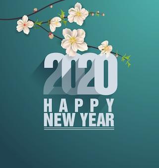 Buon natale e felice anno nuovo 2020 anno del ratto