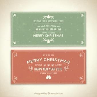 Buon natale e felice anno nuovo banner pacchetto