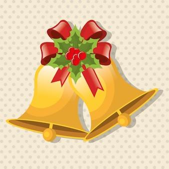 Buon natale e felice anno nuovo card design