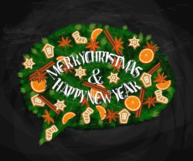 Buon natale e felice anno nuovo concetto