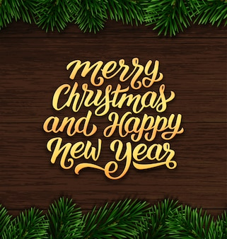 Buon natale e felice anno nuovo design della carta