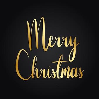 Buon Natale tipografia stile vettoriale