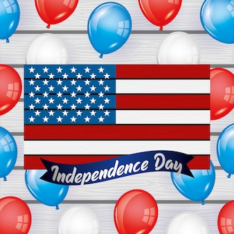Buon quarto di luglio. carta del giorno dell'indipendenza