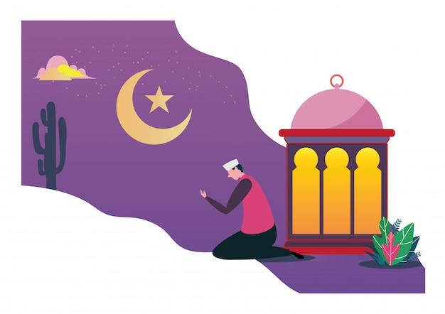 Buon saluto di ramadan mubarak