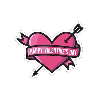 Buon san valentino adesivo per le vacanze