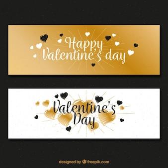 Buon san valentino con eleganti striscioni
