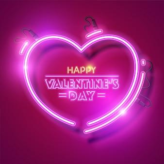 Buon san valentino design al neon.
