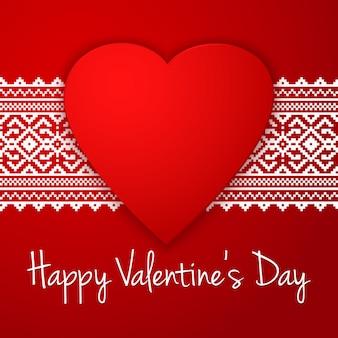 Buon san valentino saluto con confine etnico