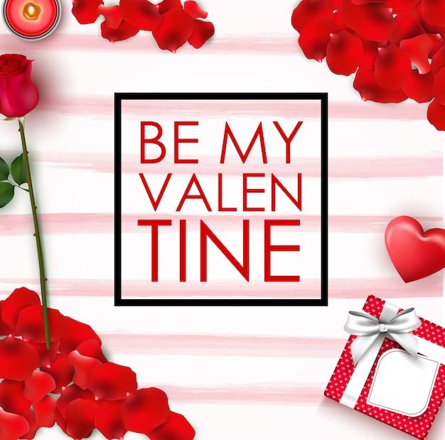 Buon san valentino saluto elementi di san valentino