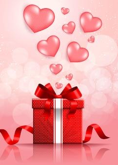 Buon san valentino sfondo festivo