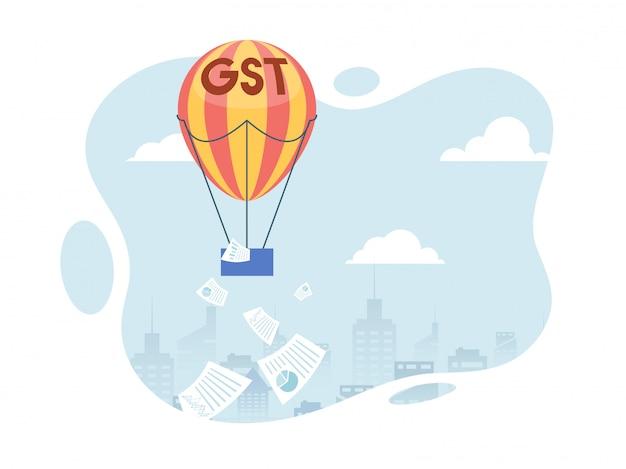 Buon servizio concetto di imposta con elementi finanziari