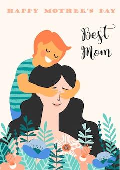 Buona festa della mamma. illustrazione vettoriale