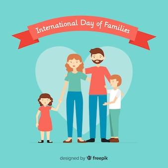 Buona giornata internazionale di famiglie