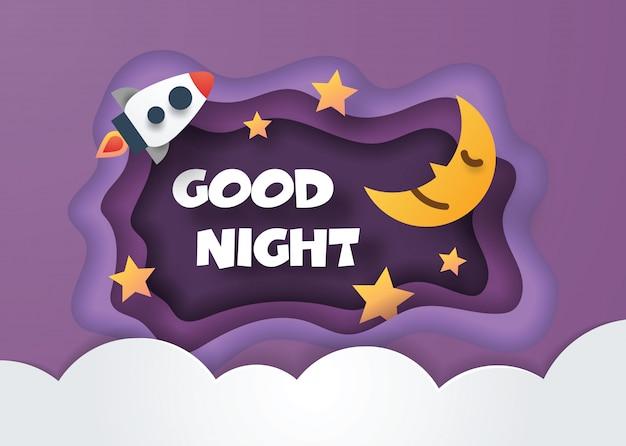 Buona notte stile taglio carta