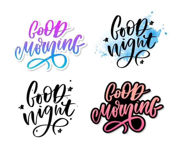 Buona notte. tipografia disegnata a mano