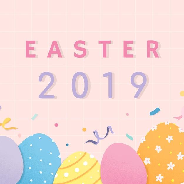 Buona pasqua 2019 card design