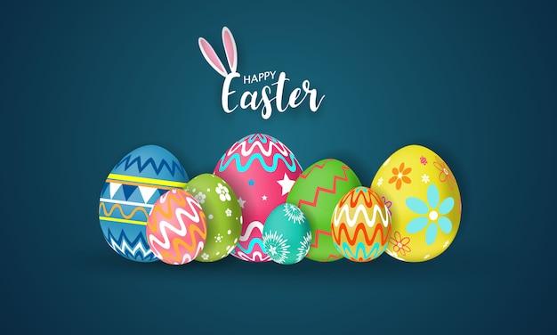 Buona pasqua. brillare uova decorate