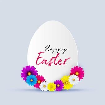 Buona pasqua con bellissimi fiori e uova di primavera. copia spazio per il posto per il testo.