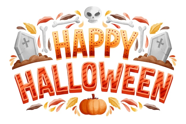 Buona scritta halloween